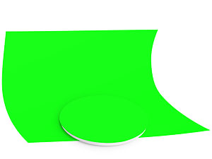 Пример изготовления накладного круга из фона хромакей для поворотного стола