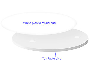 Standard complete set includes replaceable round pad