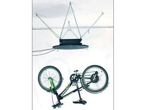 Пример: 3D-фотосъёмка велосипеда в подвешенном виде на нескольких лесках. Вращение осуществляется поворотным столом SA