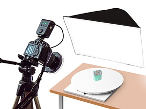 M Series Turntable for 360 product photography with manual rotation